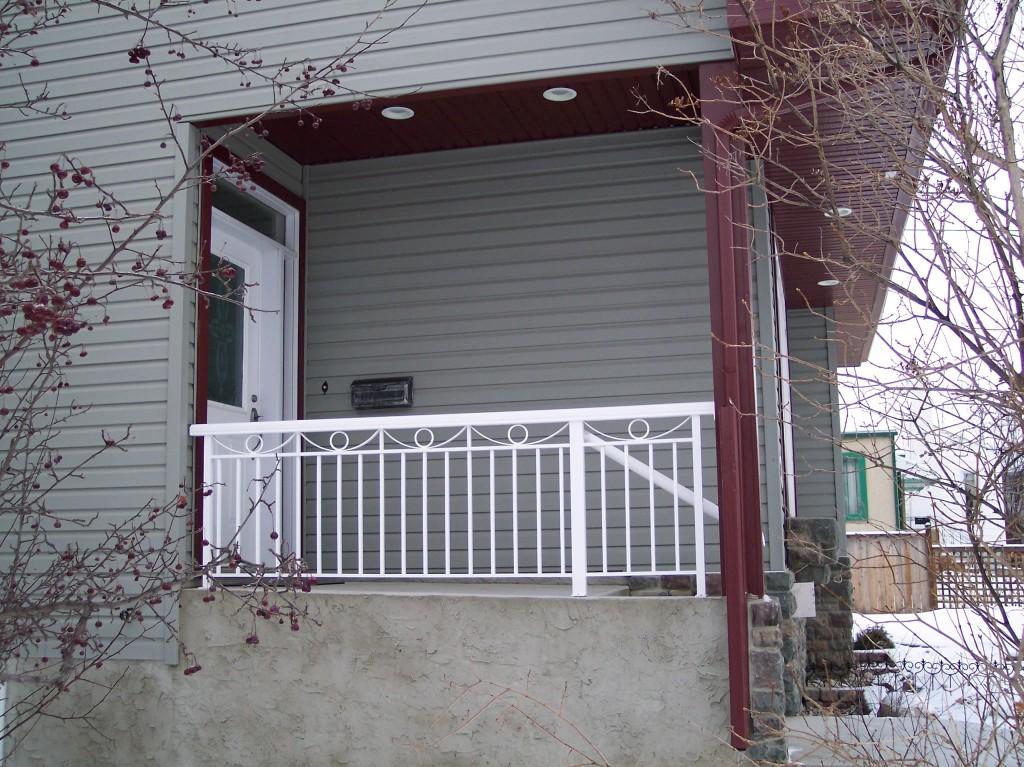 Aluminum deck railing edmonton south side ornamental