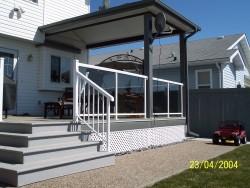 Aluminum Glass Rail, Picket Rail on Stairs