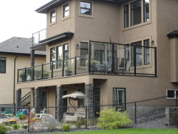 Aluminum Glass Rail with Privacy Wall