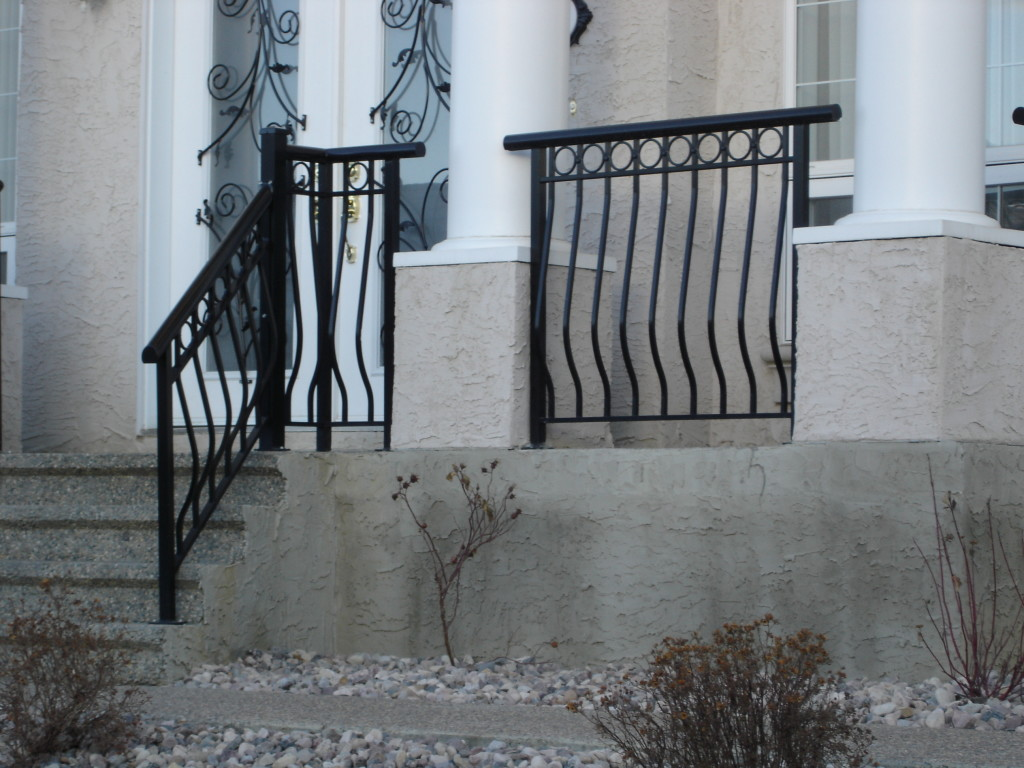 Aluminum deck railing edmonton south side ornamental