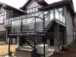 Aluminum Rail with Clear Glass Panels