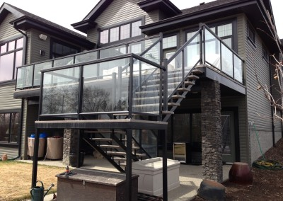 Aluminum Railing with Glass