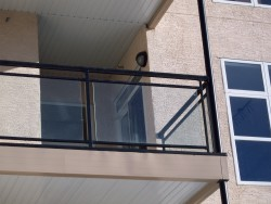 Aluminum Double-top Glass Rail