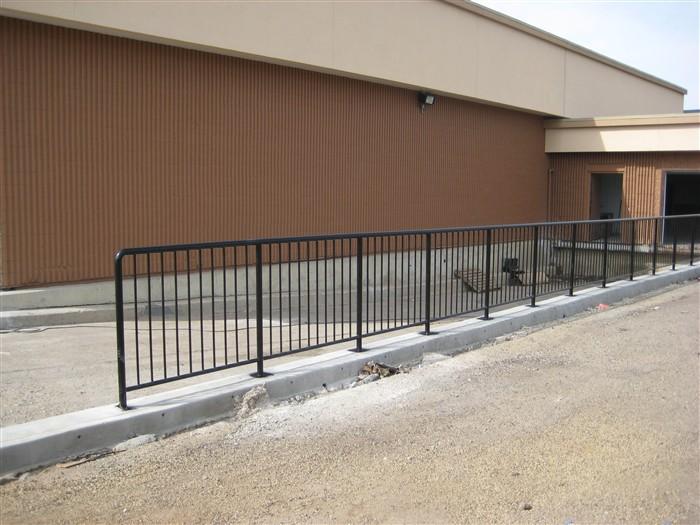 Commercial railing edmonton south side ornamental