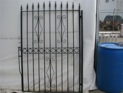 Iron Gate with Designs