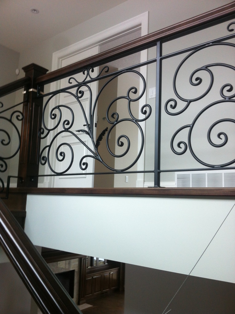 Interior Scroll Railing