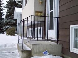 Iron Step Railing