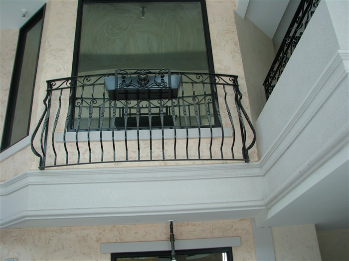 Iron stair railing edmonton south side ornamental for French balcony railing