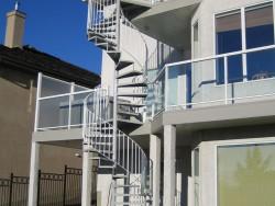 Spiral Staircase, Aluminum Glass Rail