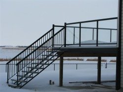 Stringers and Vinyl-wrapped Treads with Square-top Railing